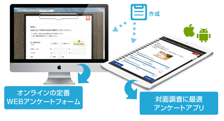 WEBアンケートとアンケートアプリを同時作成